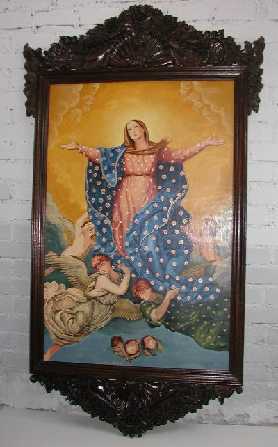 Virgin Maria made in Peru hand painted