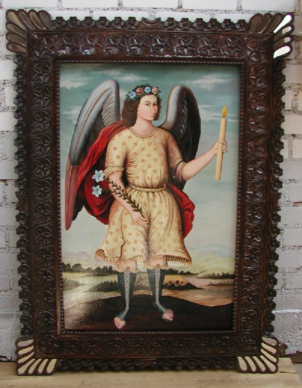 Archangel Ariel hand painted made in Peru