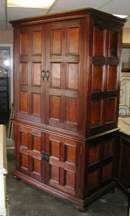 Ordinaire Baroque Armoire With Leather Panels, 127 H X 70 W X 26 D. Eagle Claw Feet, 2  Doors, Shelves, 2 Drawers. Custom Designs And Sizes Available.