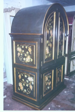 old world tuscan fruit armoire