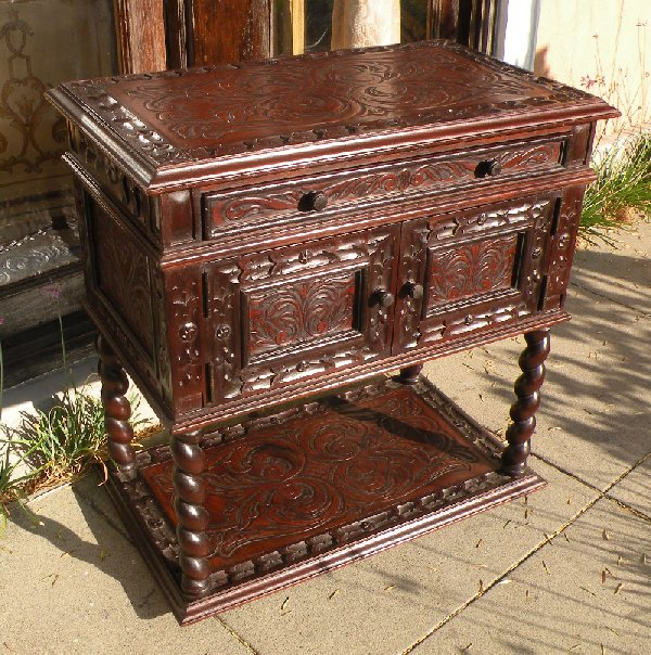 Hand Tooled Leather night stand