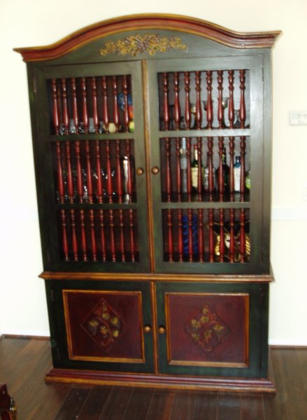 Renaissance Architectural Renaissance Hand Painted Armoires French Country Furniture