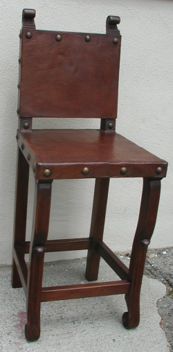 Spanish Colonial Bar Chair, Peruvian chair