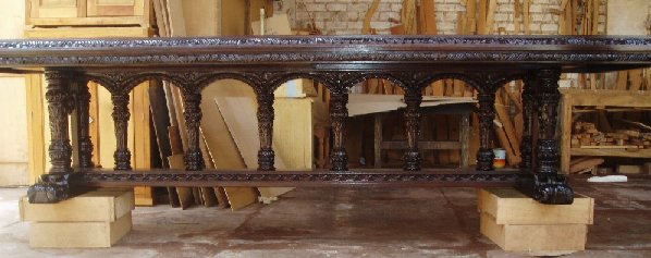 Renaissance Dining Table, Old World Tuscan dining table