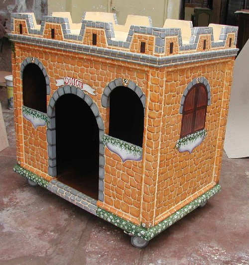 Creative dog houses on pinterest dog houses luxury dog for Architecture and design dog house