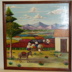 Peru's sacred valley hand painted