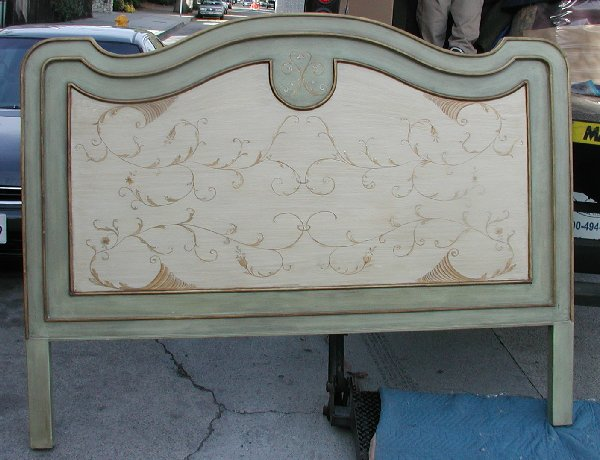 Hand Painted French Country Bed scrolls