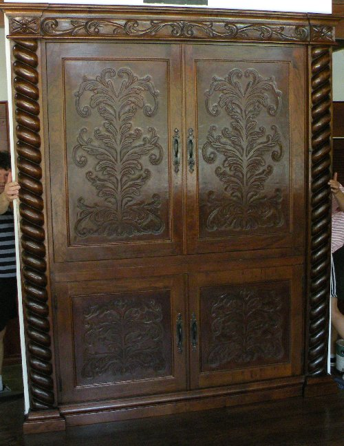 Renaissance Architectural Custom Old World Cabinets Custom Built In Media Cabinet