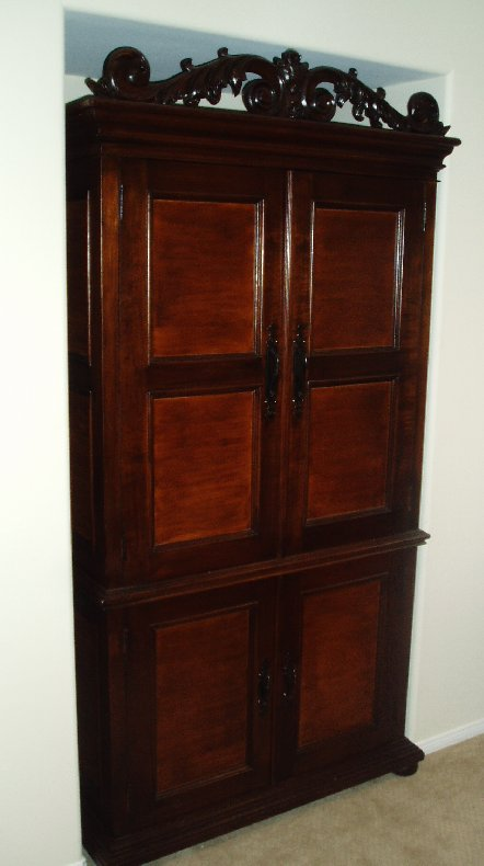 Computer Armoire With Pocket Doors