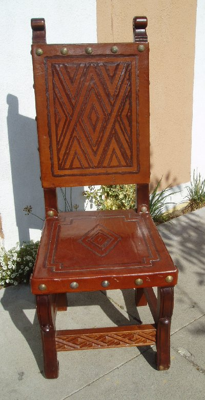 Nazca leather side chair