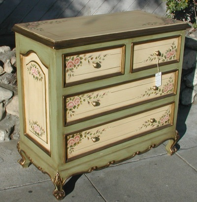 French Country Furniture Pink Rose Dresser