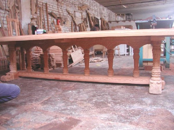 Renaissance Dining Table in process