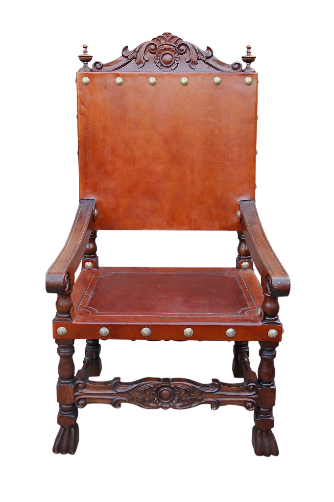 Spanish Friar Leather Armchair