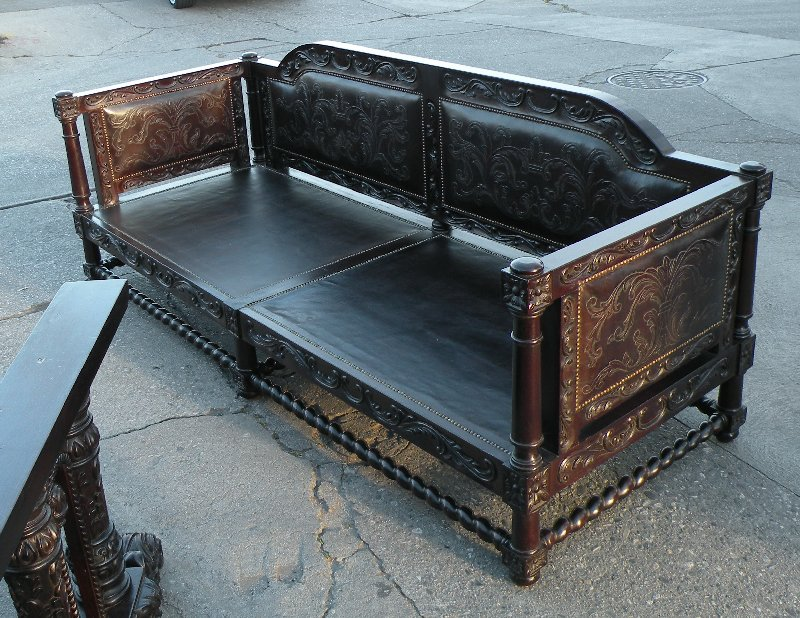 Terranean Sofa Hand Tooled Leather