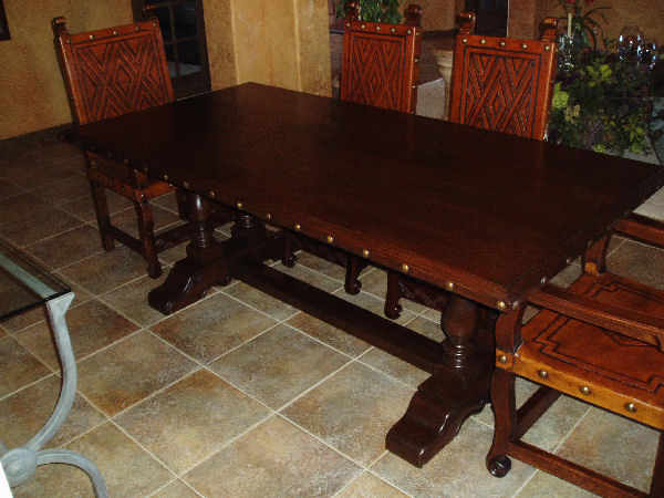 Spanish Colonial Dining Table, Balustrade Table
