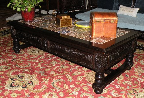 renaissance architectural - spanish coffee tables - italian coffee