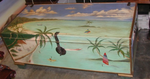 tropical painted furniture. hand painted trunks tropical furniture w