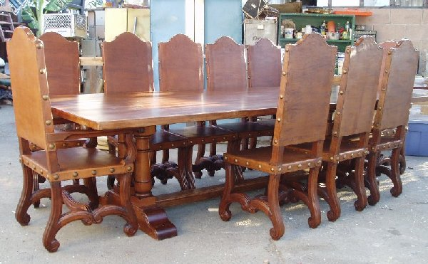 Custom Renaissance Style Dining Table 144 With 14 Chairs Old World Furniture Period Reproduction