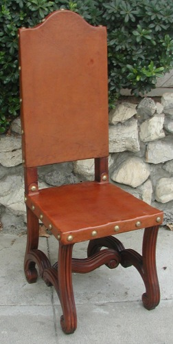 Valencia leather side chair