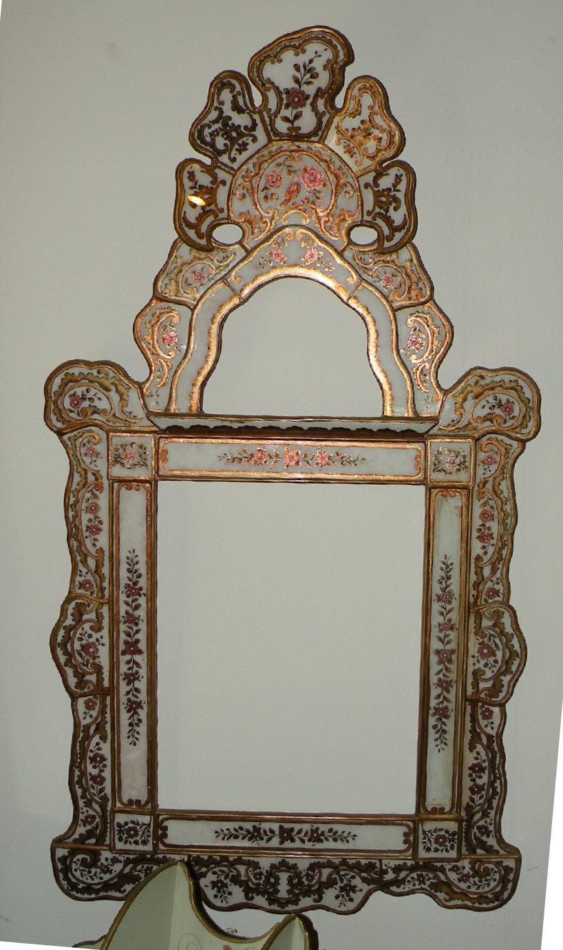 Peruvian reverse painted glass mirrors by r furniture for R furniture canoga park