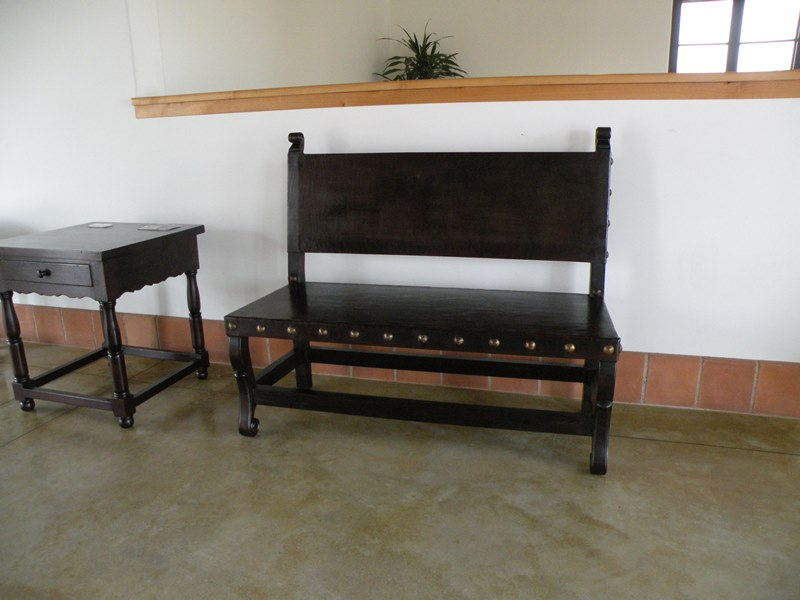 Santa Barbara style furniture at the Santa Barbara Airport Museum